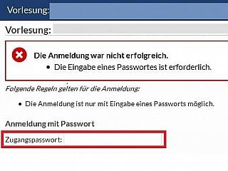 anmeldeverfahren Passwort