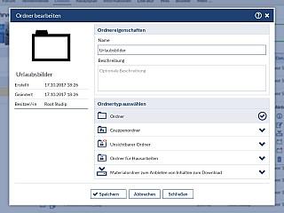 Dateibereich Ordner Bearbeiten