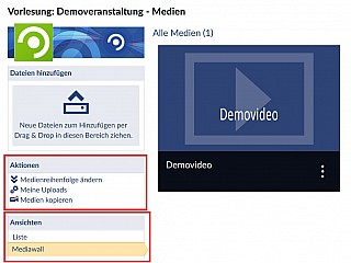 MediaCast2 Verwaltung2