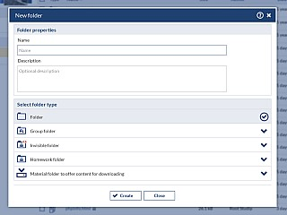 FileArea CreateFolder