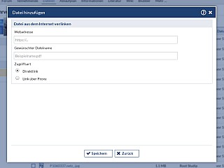 Dateibereich Datei Hochladen URL